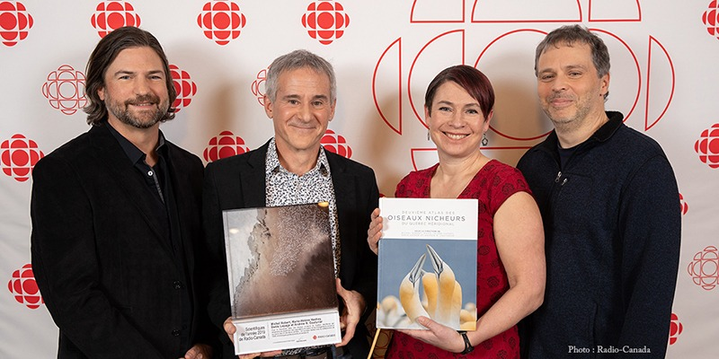 Co-authors of Québec's Second Breeding Bird Atlas Recognized with Scientist of the Year Award